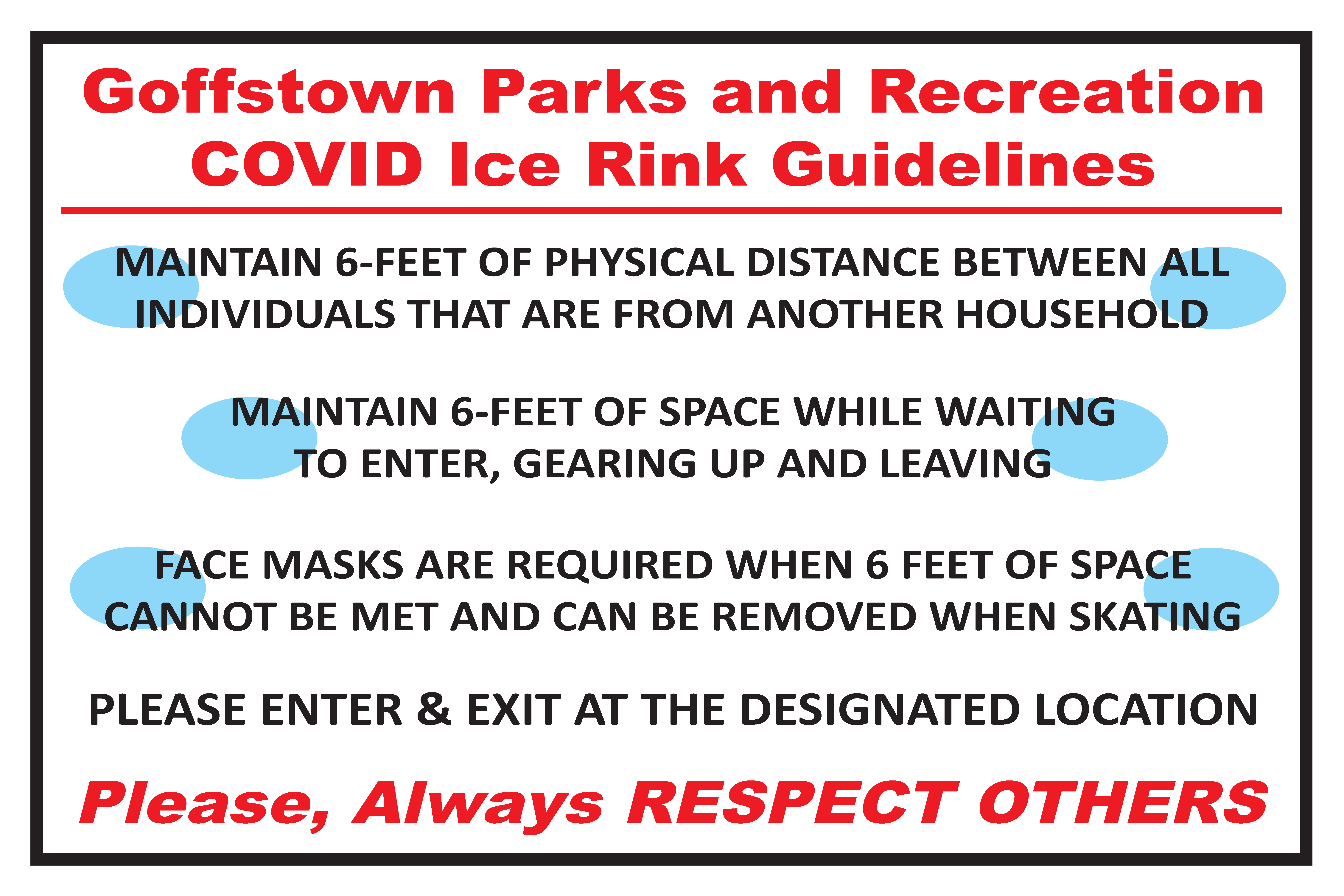 COVID Ice Rink Rules